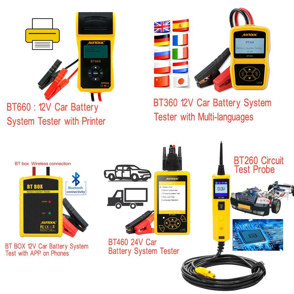 AUTOOL Auto Batterie System Tester Professionelle 12V Fahrzeug Batterien Diagnose Werkzeug für Autos 4S Werkstatt Reparatur Diagnose
