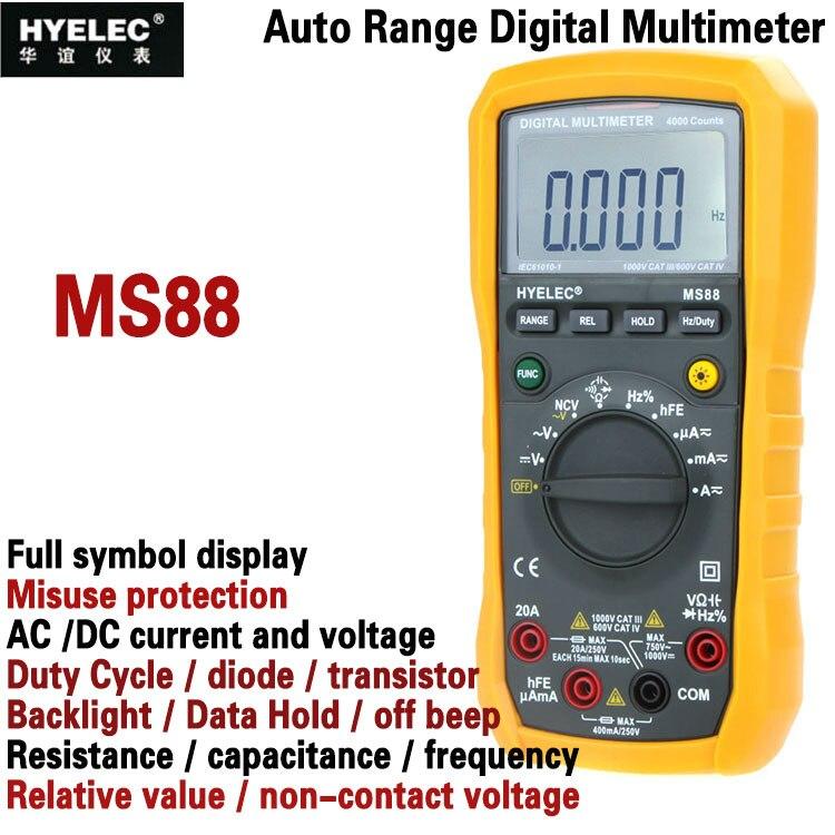 Hyelec Ms88 Professional Multimetro Multifunction Digital Multimeter