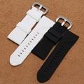 28 мм мягкий Силиконовый Резиновый Ремешок Для Часов Черный Белый Смотреть полоса Высокого Качества Часы аксессуары fit мужчины наручные спорт Sevenfriday