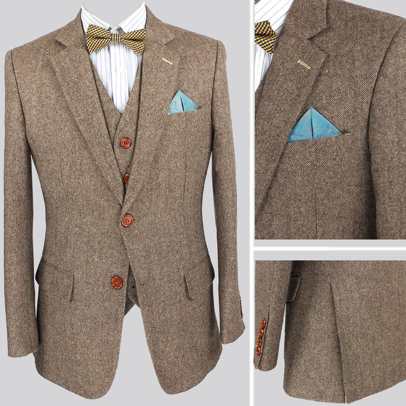Aliexpress.com : Buy Retro Light colored Brown tweed custom made ...