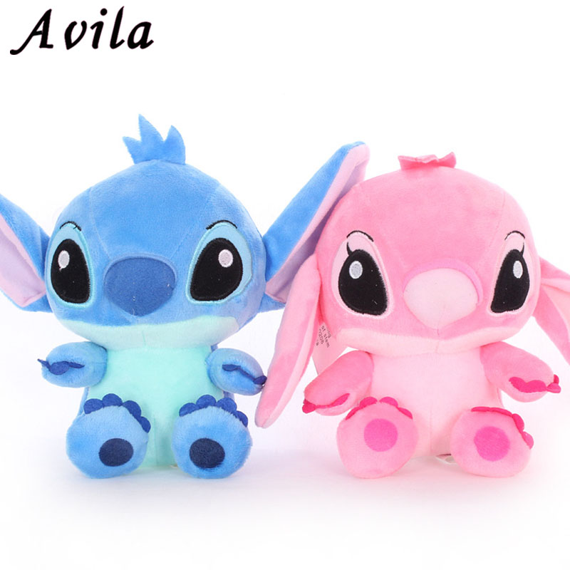 2PCS/Lot Kawaii Stitch Plush Doll Toys Anime Lilo And Stitch 20CM Stich Plush Toys For Kids Birthday Gift