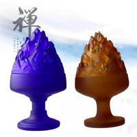 Liuli Boshan incense burner, glass incense burner manufacturer, creative crafts, Chinese incense burner