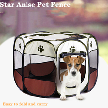Pet Products Dog Fences Collapsible Oxford House Playpen Chien Cat Tent Toys Supplies