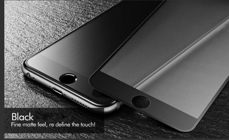 9H 2.5D matowy matowy pełna pokrywa szkło hartowane Screen Protector dla iPhone X XS MAX XR 10 8 7 6s 6 Plus 7Plus anty odciski palców 18