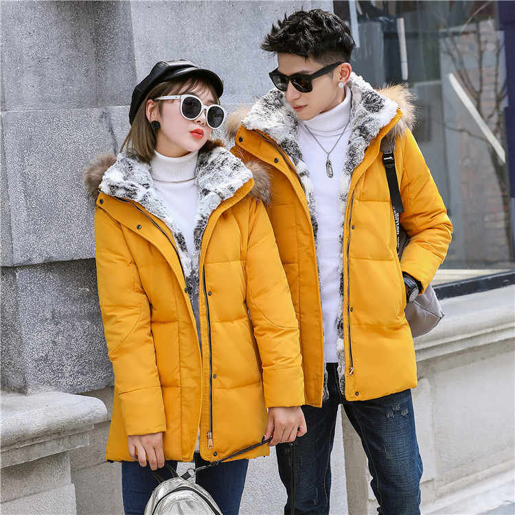 Новинка 2018, зимняя куртка на утином пуху, мужская пуховая куртка, Мужская куртка, утолщенный теплый мех меховой воротник, с капюшоном, мужская одежда