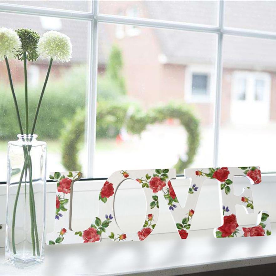 Любовь Знак Красочные Свадебные украшения любовные письма деревянная комната дома вечерние письмо украшения Декор 5o1204