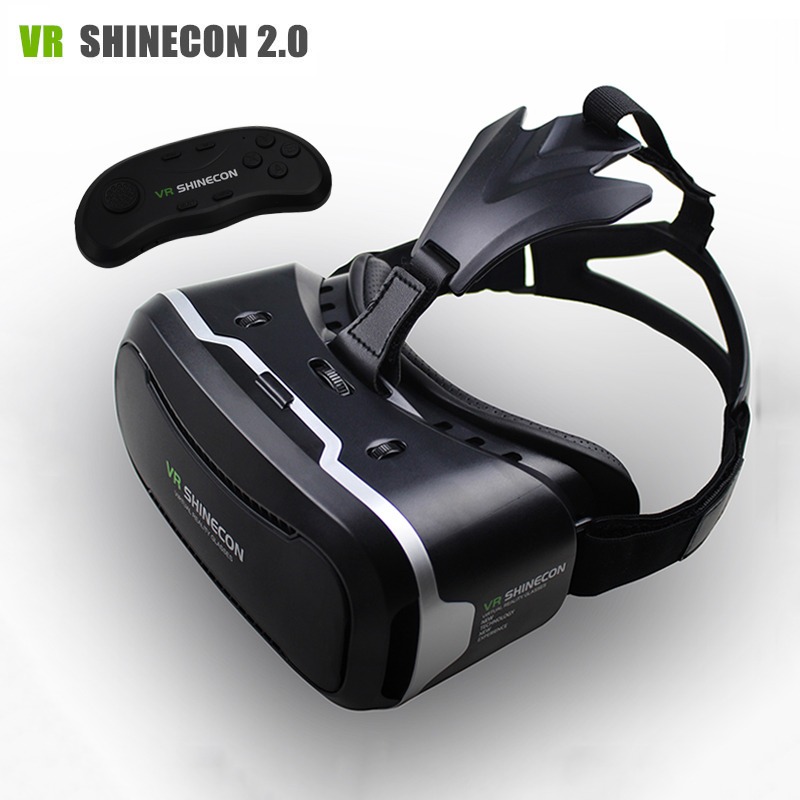 a86f6b098d7e Original Shinecon ii 2.0 VR Headset 3D Glasses Cardboard IPD Focus Adjust Virtual  Reality Glasses Helmet+ Bluetooth 3.0 Gamepad-in 3D Glasses  Virtual ...