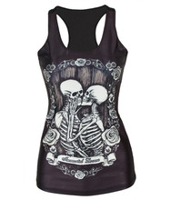 Alisister Newest Graphics Skull Tank Top Women Print 3d Sleeveless Shirt Harajuku Flower Top Clothing Camisole Feminina Dropship