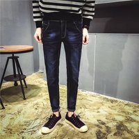 hot sale new men's jeans and black paint straight slim jeans Skinny design hot sale 956