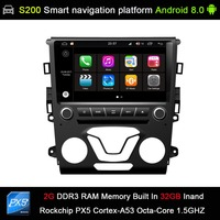 auto Android 8.0 system PX5 Octa 8 Core CPU 2G Ram 32GB Rom Car DVD Radio GPS Navigation for Ford Mondeo Fusion 2013 2014