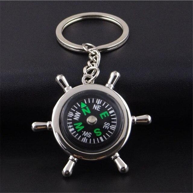 Steering wheel camel compass keychain creative sailing key chain compass  opener car keychain multi-functional cf141284b