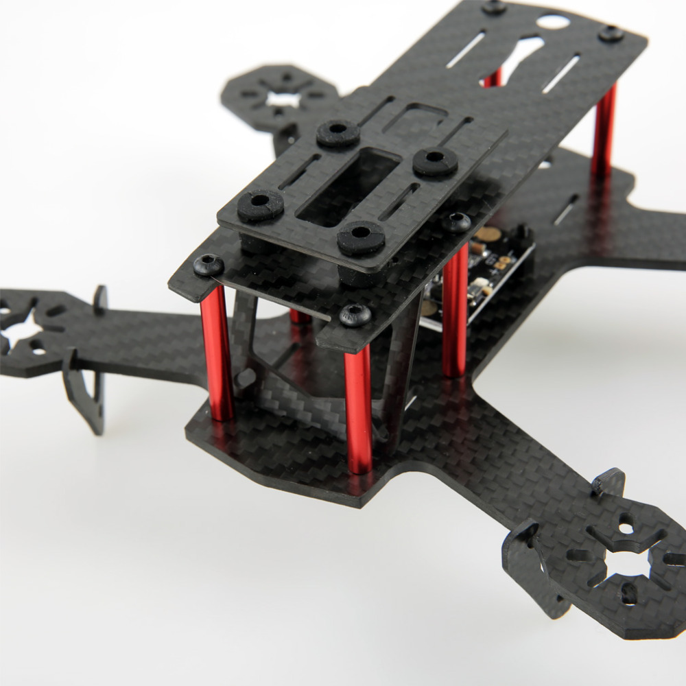 ZMR180 Carbon Fiber 180mm Mini Quad Frame Kit with 5v 12v BEC PDB compatible 2204 and 1806 brushless motor for FPV Racing