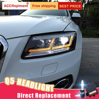 2 шт светодиодный фары для Audi Q5 2009 2018 светодиодный огни автомобиля глаза ангела xenon HID комплект протовотуманная подсветка Габаритные огни
