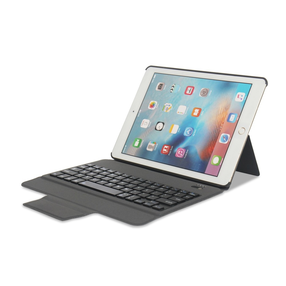 For iPad 5 / 6 / Air / Air 2 / Pro 9.7 Wireless Bluetooth Keyboard Case Cover New For iPad 9.7 2017 2018 A1893+Stylus Pen+Gift