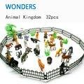 Зоопарк. Пластиковые игрушки 32шт. в наборе для детей от 3-х лет.