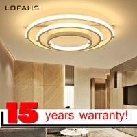 LOFAHS Modern Led Chandelier Lighting Aluminum Ring Pendant Lamps Minimalist Art Interior Renovation Fixtures