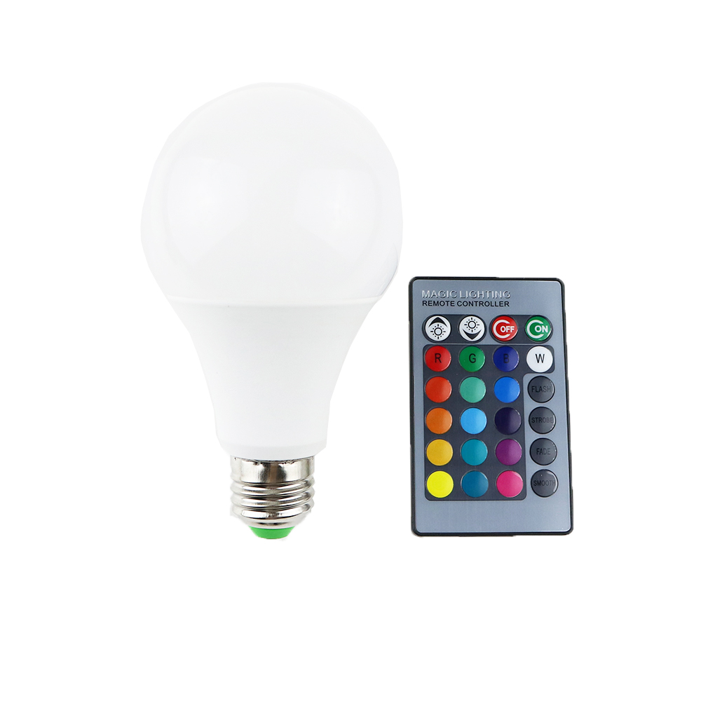 RGB LED Lamp Bulb light with magic contoller E27 base 3W 7W SMD5050 chip 110V 220V Home Decor Changeable color UW rgb led lamp bulb light with magic contoller e27 base 3w 7w smd5050 chip 110v 220v home decor changeable color uw