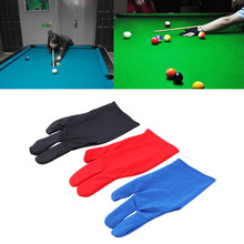 Durable Nylon 3 Fingers font b Glove b font for Billiard Pool Snooker Cue Shooter Black