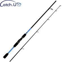 Catch U 1 8M Fishing Rods Carbon Spinning Fishing Pole Spinning Fishing Rod 2 Section Lure Casting Pole cheap River Reservoir Pond Ocean Beach Fishing Lake Ocean Boat Fishing stream Ocean Rock Fshing Lure Rod 1 1mm Hard Red Blue 1 7m 1 8m
