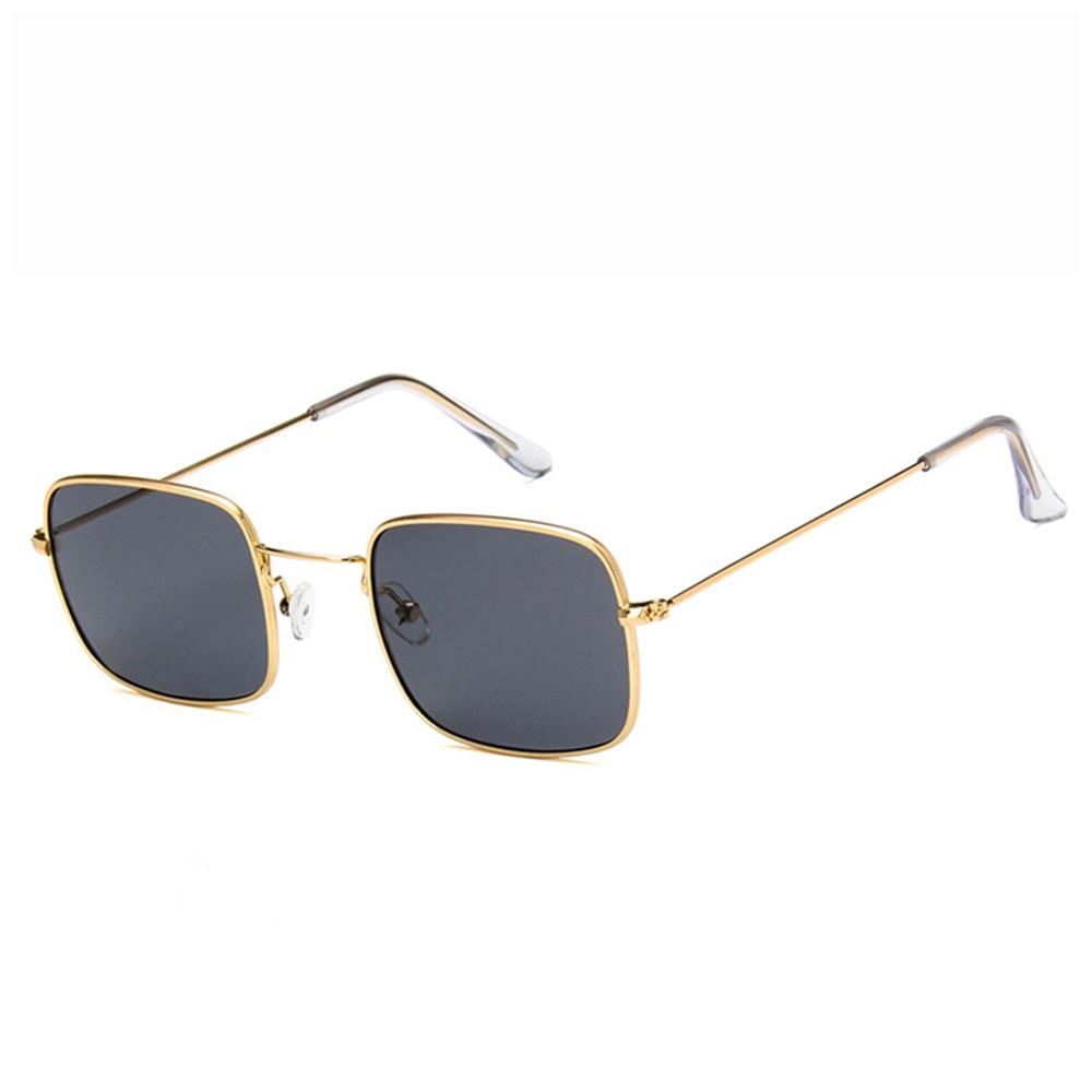 2018 new style small square frame HD sunglasses men women European American fashion anti UV sun glasses transparent ocean film