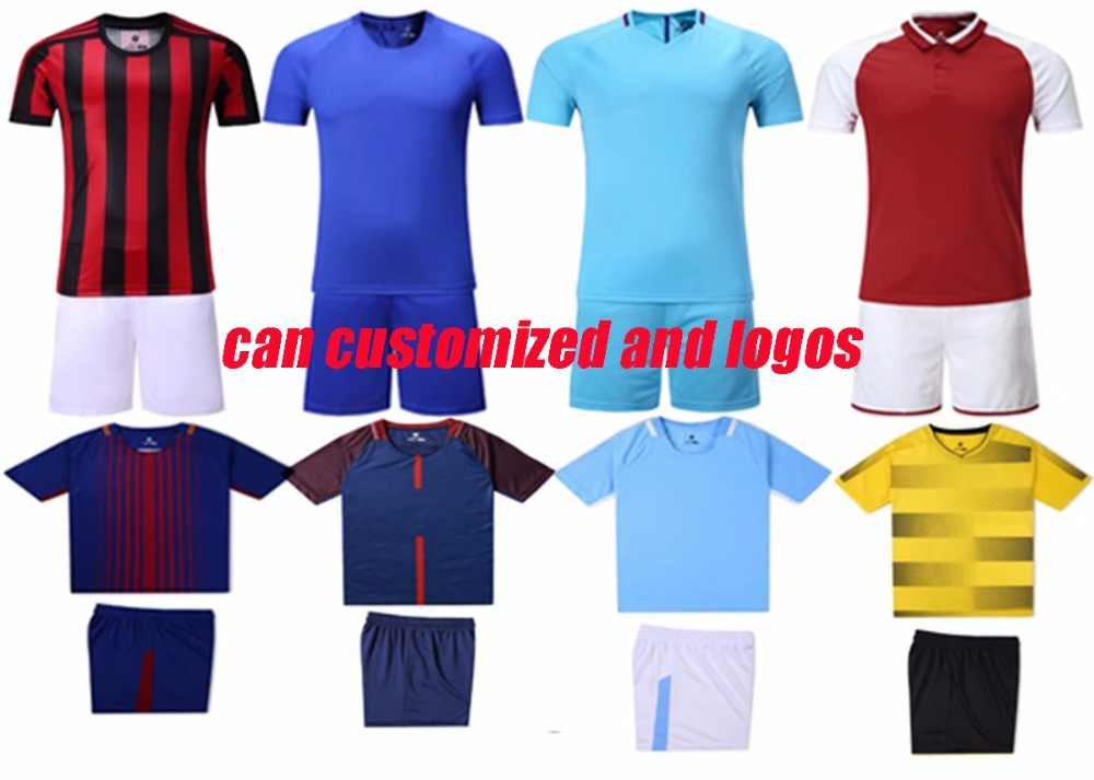 4c850d5f02c New kids plain soccer sets youth football shirts and shorts boys sports training  kits can customized