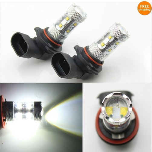 Free shipping 2x 50W H10 9140 9145 White CREE LED Fog Light for Ford F150 F250 Mustang Ranger etc
