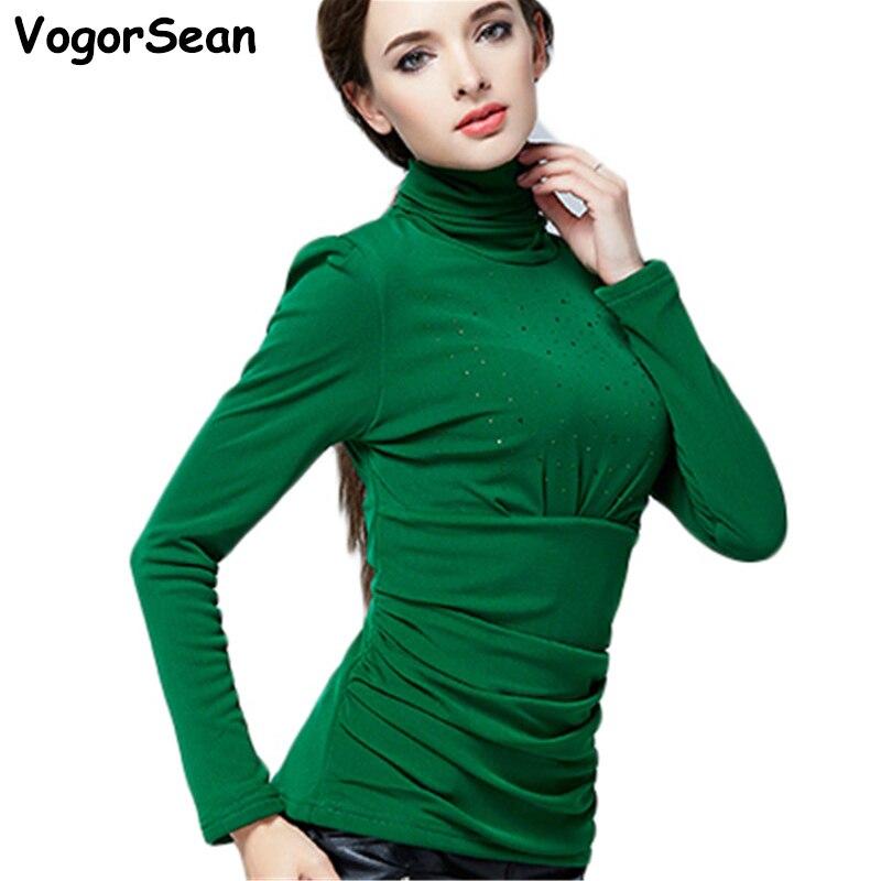 Moda Blusa Blusas Alta Terciopelo Otoño Grueso Camisas Camisa Más Caliente Invierno Mujeres verde Elegante Que De Negro rojo La Calidad Vogorsean Tamaño púrpura Basa Tops w0C8pWpq