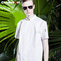 2017 summer High quality long sleeve wearproof and shrink resistant white french head chef uniform cook clothing