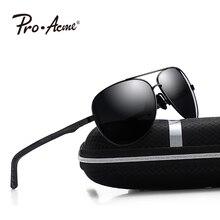 ed6d3bcf59 Pro Acme aluminio piloto gafas de sol hombres polarizados conducción gafas  de sol hombre viaje conducción de gafas masculinas UV.