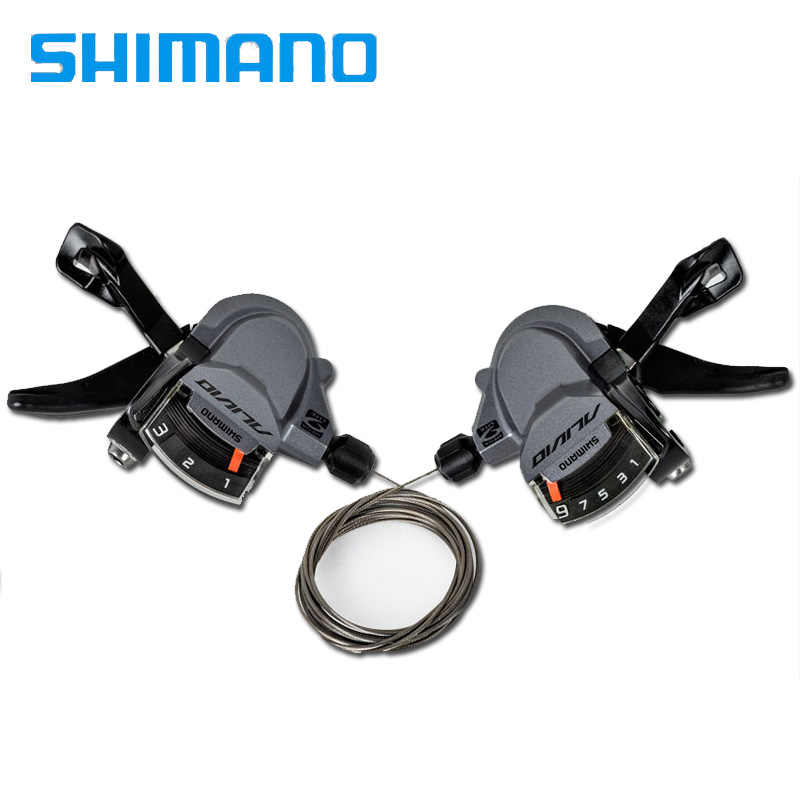 Shimano Alivio M4000 9 Speed Trigger Shift Lever Set Shifter MTB R L 3x9S 27 Speed  Trigger With Inner Cables