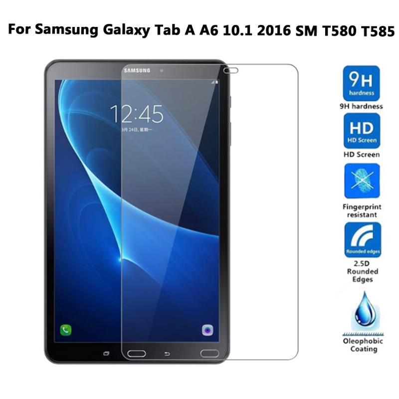 9H Premium Tempered Glass For SM-T580 Screen Protector For Samsung Galaxy Tab A A6 10.1 2016 T585 T580 Protective Glass Film