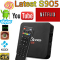 2016 Nueva S905X MXQPro Android TV Box Amlogic Quad Core Android5.1 DDR3 1G HDMI 2.0 WIFI 4 K 1080i/p Kodi 16.0 Completo cargado complementos