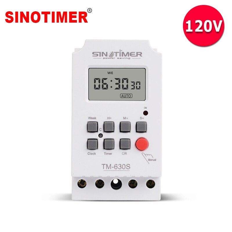 1 segundo intervalo carga pesada 30A 110V 120V 7 días semanalmente digital iluminación electrónico temporizador con poder de salida directa Ultra grande, pantalla de 3