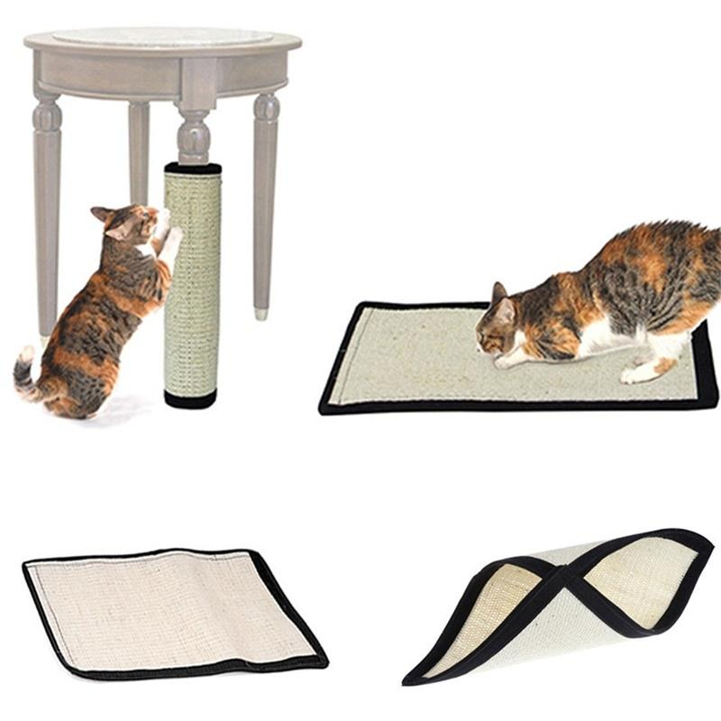 Adeeing Creative Natural Sisal Cat Scratch Board Cat Scratching Mat Pet Toy Home Furniture Protection