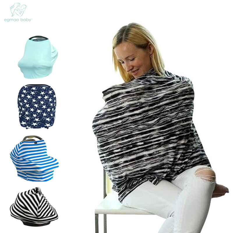 EGMAOBABY Fashion Baby Stroller Hood Baby Car Seat Covers Breastfeeding Nursing Cover Towel Cover The Wind The Sun Wipes