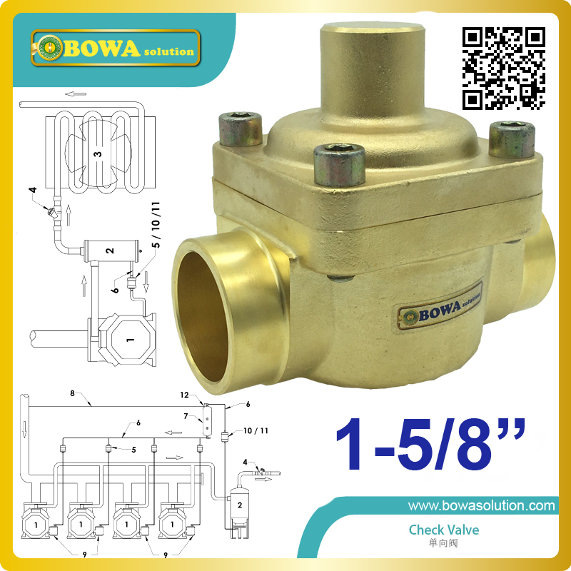 1-5/8 plunger Check Valve was designed with piston close and seal, forged brass body, max. flow rate and min. pressure drop цена 2016