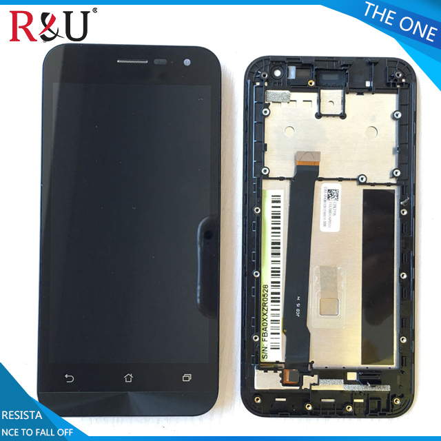 R&U used parts lcd screen display with touch screen digitizer assembly with frame For ASUS Zenfone 2 ZE500CL Z00D