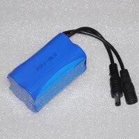 חדש 7.4 v 18650 Li-Ion סוללה נטענת סוללת ליתיום יון 4400 mah עבור דייג LED פנס פנס פנס