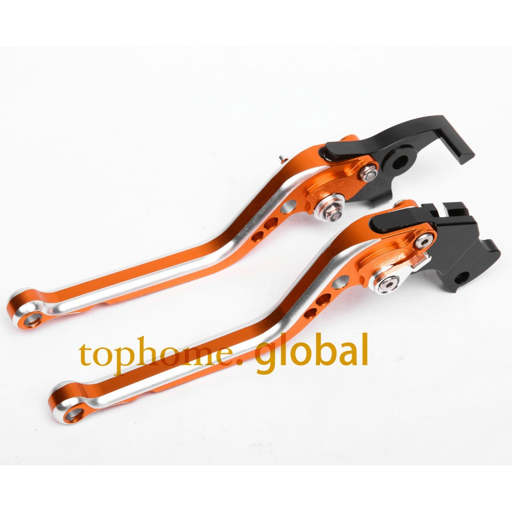 CNC Motorcycles Brake Clutch Levers Regular size Mixed Orange&Silver Color For Moto Guzzi V11 1999-2000 2001 2002 2003 2004  fxcnc aluminum adjustable motorcycles brake clutch levers for yamaha fzr600 1989 2003 2000 2001 2002 moto brake clutch lever