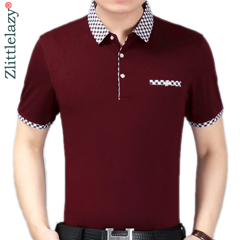 2019 Summer Short Sleeve Knitting Polo Shirt Men Clothes Solid Fashions Polos Tee Shirts Pol Cool Mens Clothing Poloshirt 600