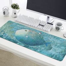 Big Fish small House cartoon tablecloths gaming mouse pad waterproof Thicken Locking Non-slip Office desk mat Large keyboard