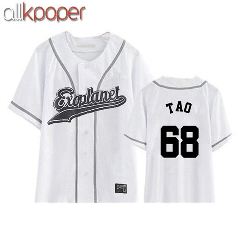 ALLKPOPER New EXO Plane3 Kpop Exo Chanyeol Sehun Xiumin Baekhyun T-shirt K-POP Exo Tshirts Harajuku Top Tee For Women Men