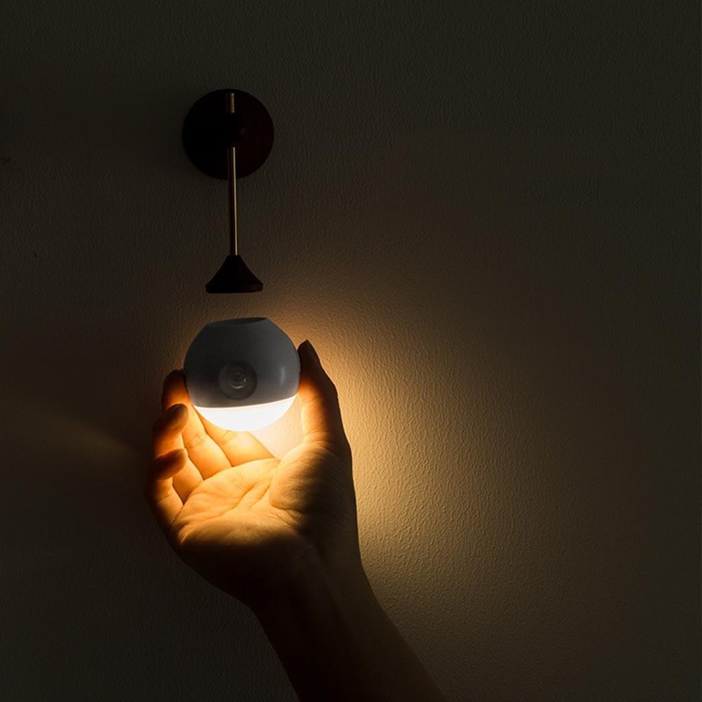 Indüksiyon USB Gece Işık Için Koyu Gece Çocuk Koridor Banyo Yatak Odası Akıllı Vücut Sensörü Başucu Lambası Gece Lambası