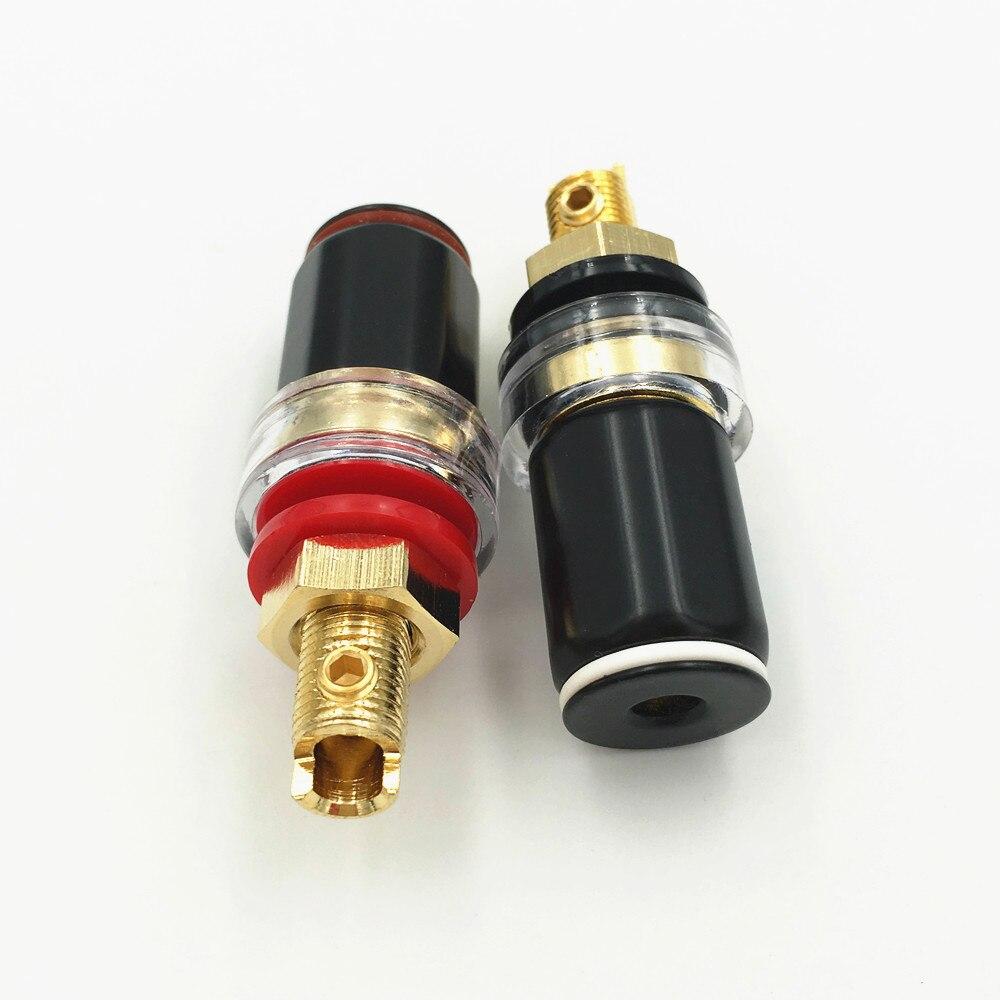 8pcs Binding Post Speaker Cable Amplfier 4mm Banana Jack Plug Connector  Colrs