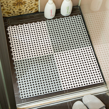 30X30 cm Spliced PVC Bath Mat Batroom Toilet Kitchen Swimming Pool Water Proof Drain Antiskid Mat Hollow Out Rugs for Bathhouse image