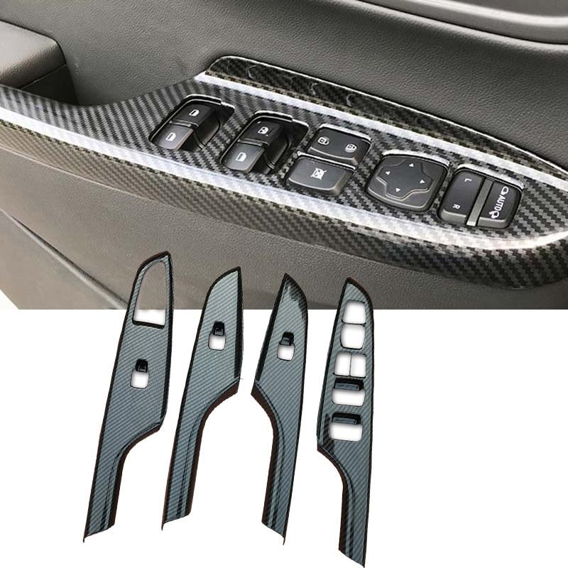 Tomefon For Hyundai Kona Encino 2018 2019 Abs Chrome Front: For Hyundai KONA Kauai Encino 2018 2019 Car Window Lift