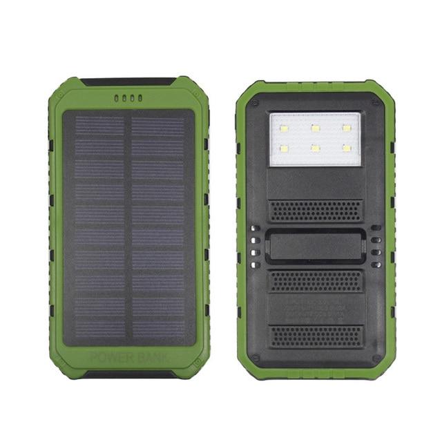 DCAE Новый Солнечный Power bank 10000 мАч Dual USB LED Лагерь Свет Портативные Солнечные Зарядное Устройство PowerBank для мобильного телефона