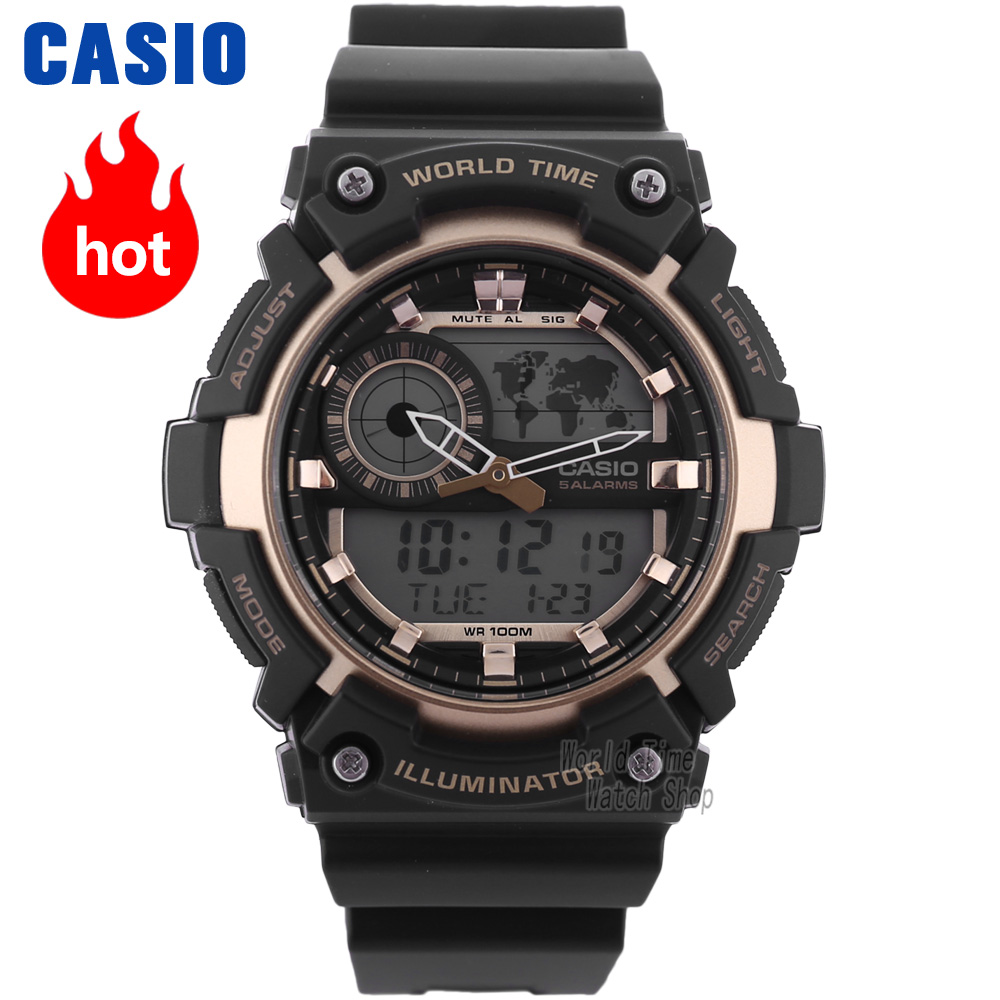 Casio watch Stylish and versatile sporty electronic mens watch AEQ-200W-9A AEQ-200W-1A AEQ-200W-2A casio aeq 100w 2a