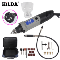 HILDA 220V 400W Mini Dremel Style Variable Speed Rotary Tool With Flexible Shaft With 25 Pieces