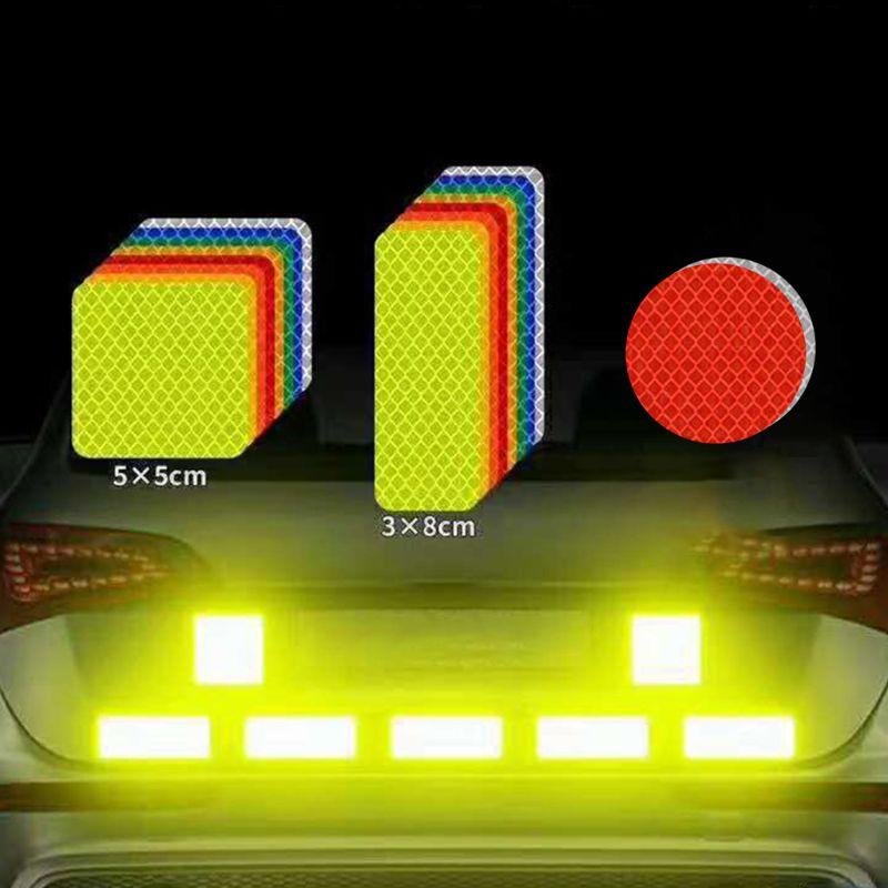 Купить с кэшбэком Safety Reflective Warning Strip Tape Car Bumper Reflective Strips Secure Reflector Stickers Decals Car Styling